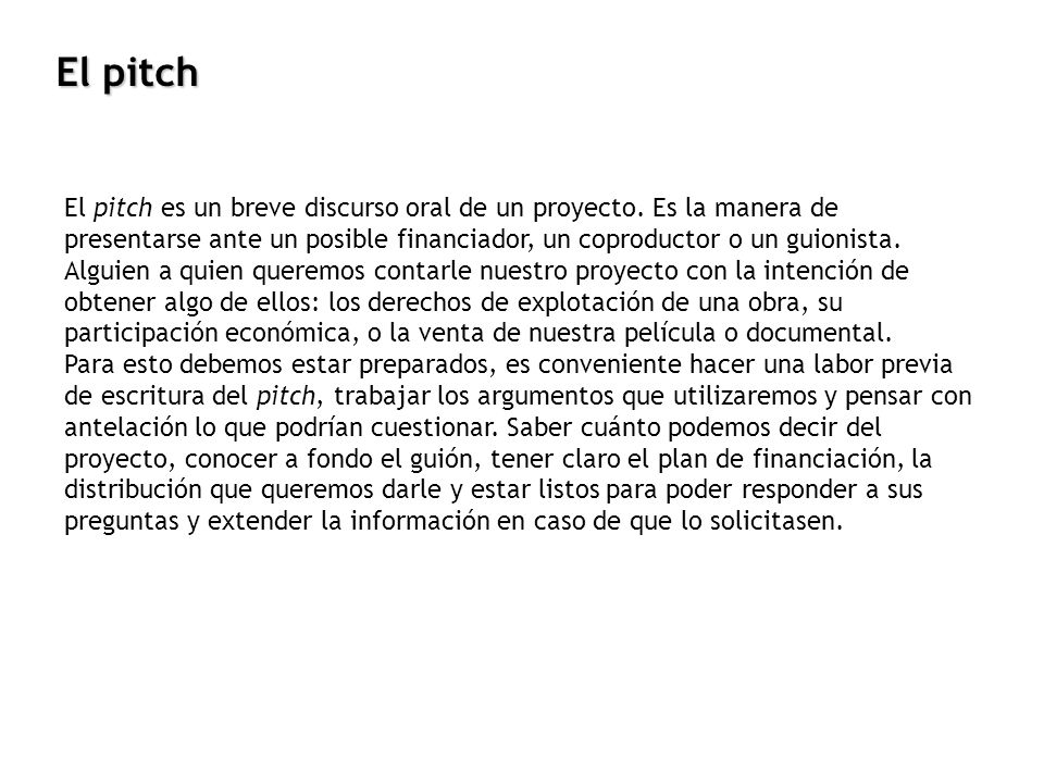 El pitch