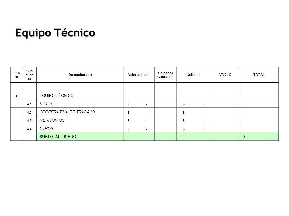 Equipo Técnico EQUIPO TÉCNICO S.I.C.A. COOPERATIVA DE TRABAJO