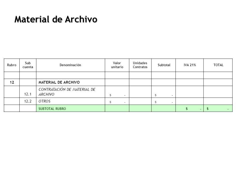 Material de Archivo 12 MATERIAL DE ARCHIVO 12.1