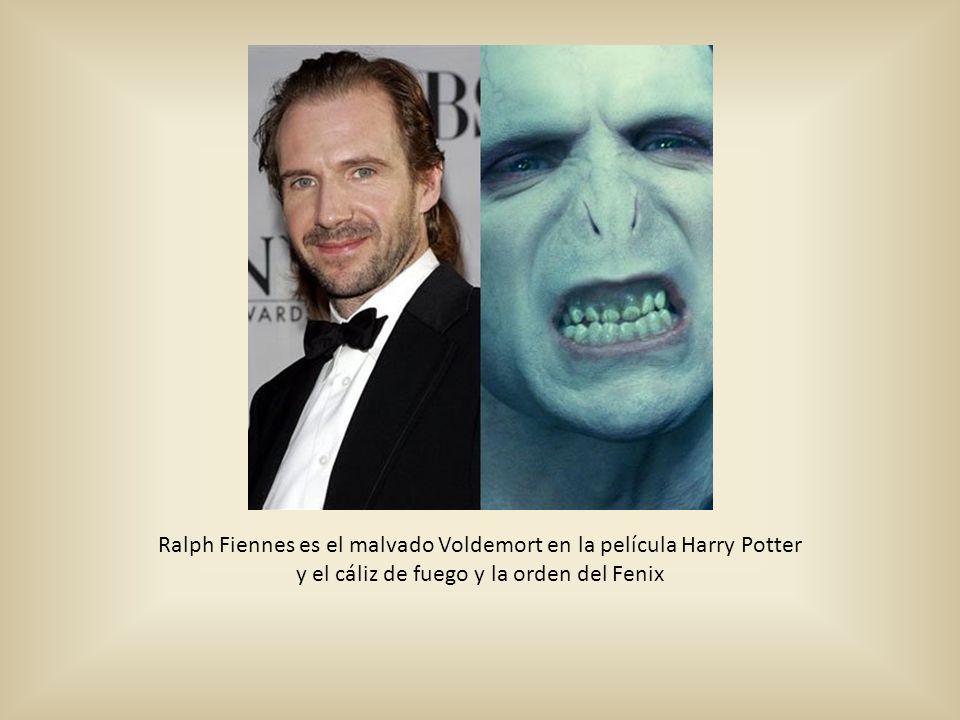 Ralph Fiennes es el malvado Voldemort en la película Harry Potter y el cáliz de fuego y la orden del Fenix