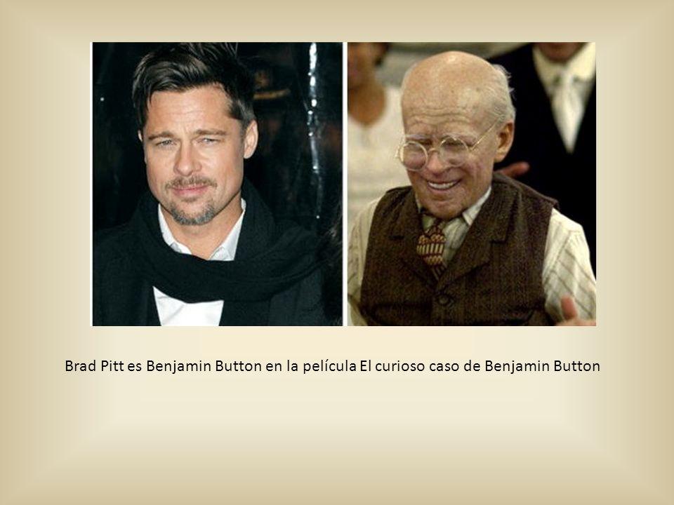 Brad Pitt es Benjamin Button en la película El curioso caso de Benjamin Button