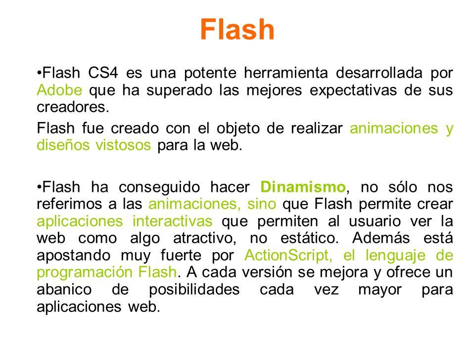 Flash Flash CS4 es una potente herramienta desarrollada por Adobe que ha superado las mejores expectativas de sus creadores.