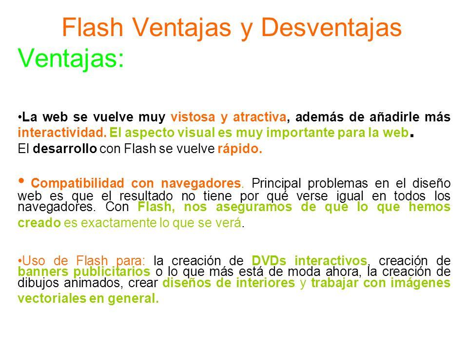 Flash Ventajas y Desventajas