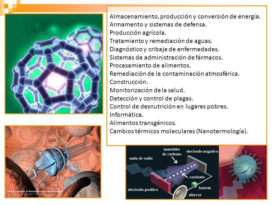 Almacenamiento, producción y conversión de energía.