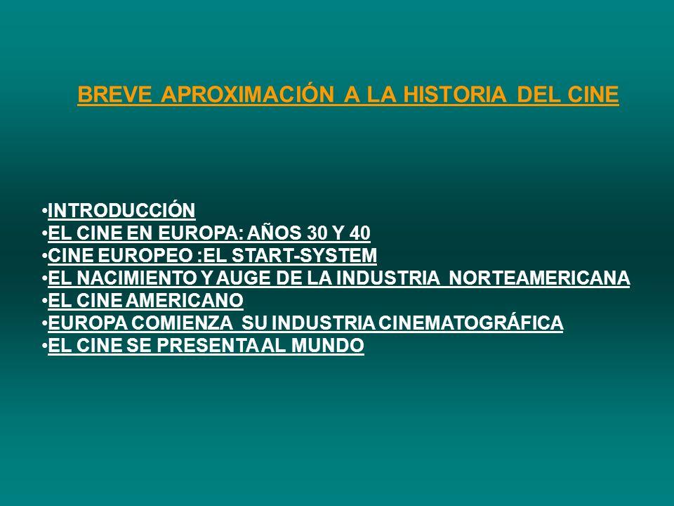 BREVE APROXIMACIÓN A LA HISTORIA DEL CINE