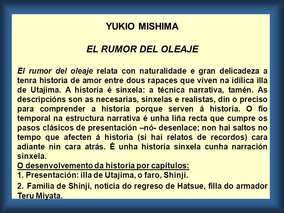 YUKIO MISHIMA EL RUMOR DEL OLEAJE