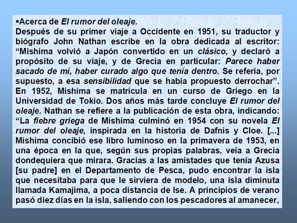 Acerca de El rumor del oleaje.