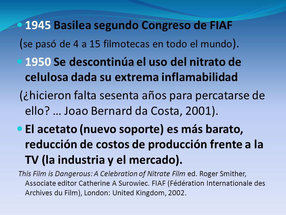 1945 Basilea segundo Congreso de FIAF