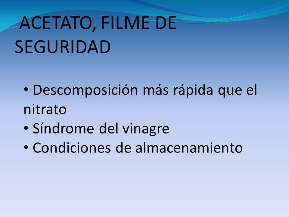 ACETATO, FILME DE SEGURIDAD