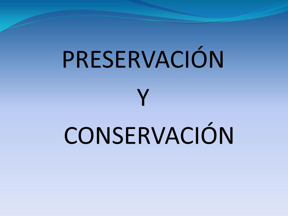 PRESERVACIÓN Y CONSERVACIÓN