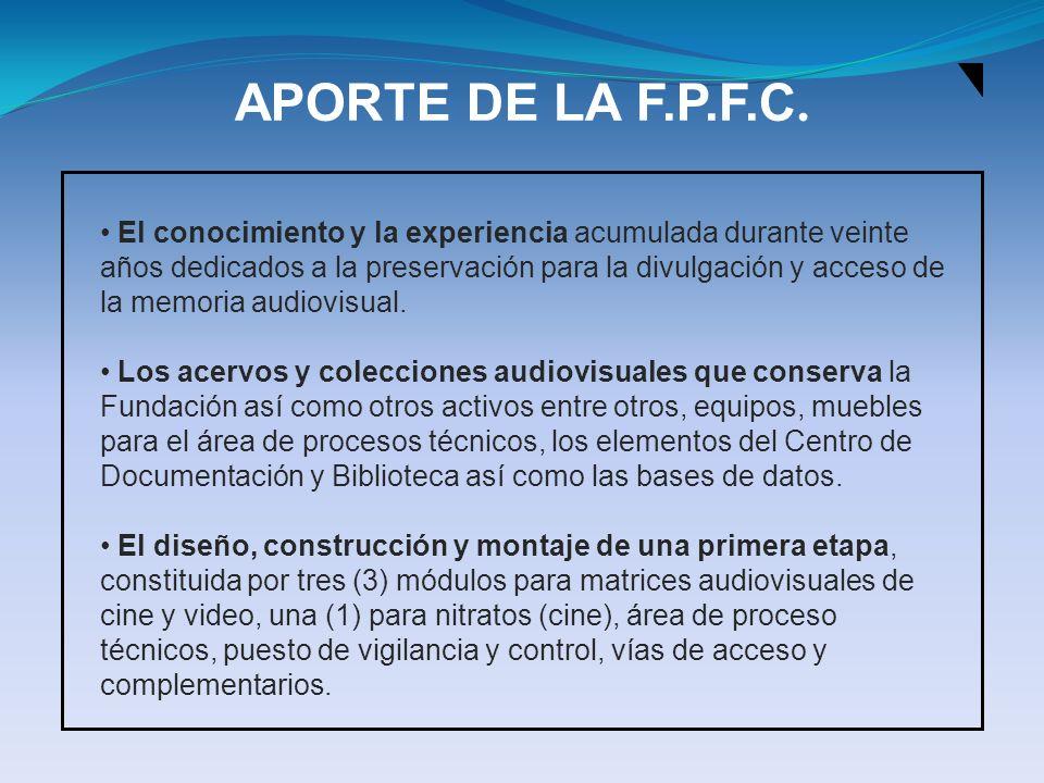 APORTE DE LA F.P.F.C.