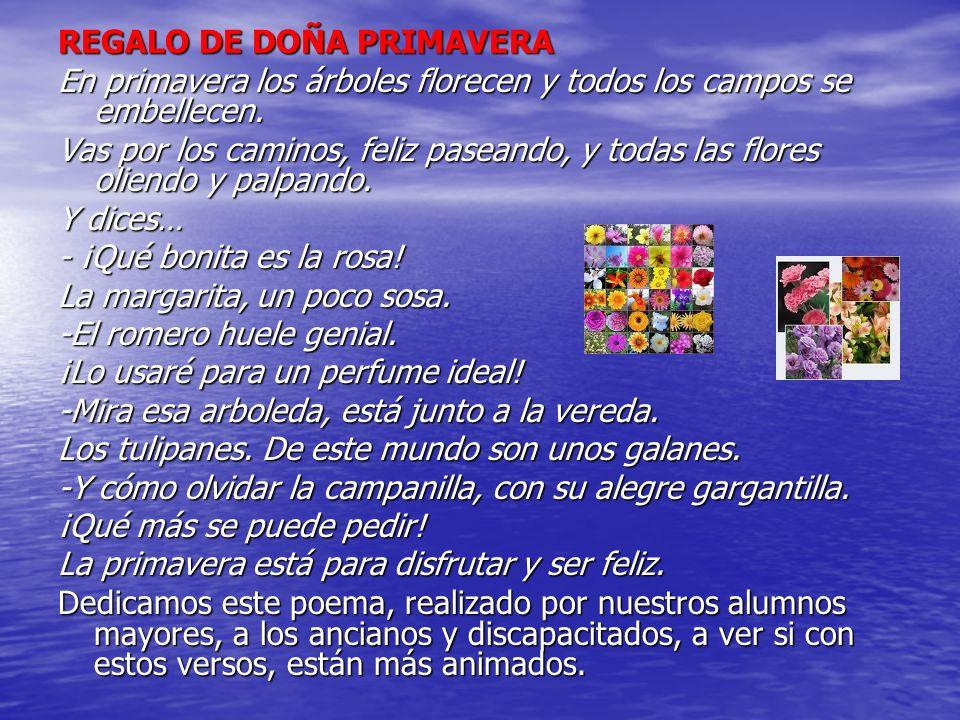 REGALO DE DOÑA PRIMAVERA