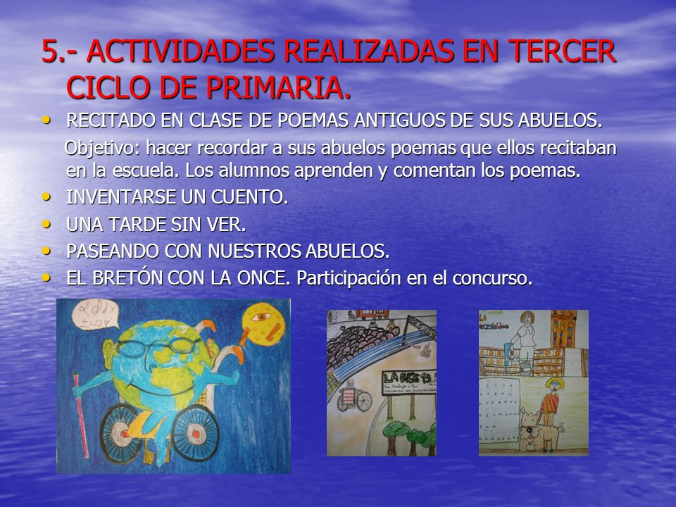 5.- ACTIVIDADES REALIZADAS EN TERCER CICLO DE PRIMARIA.