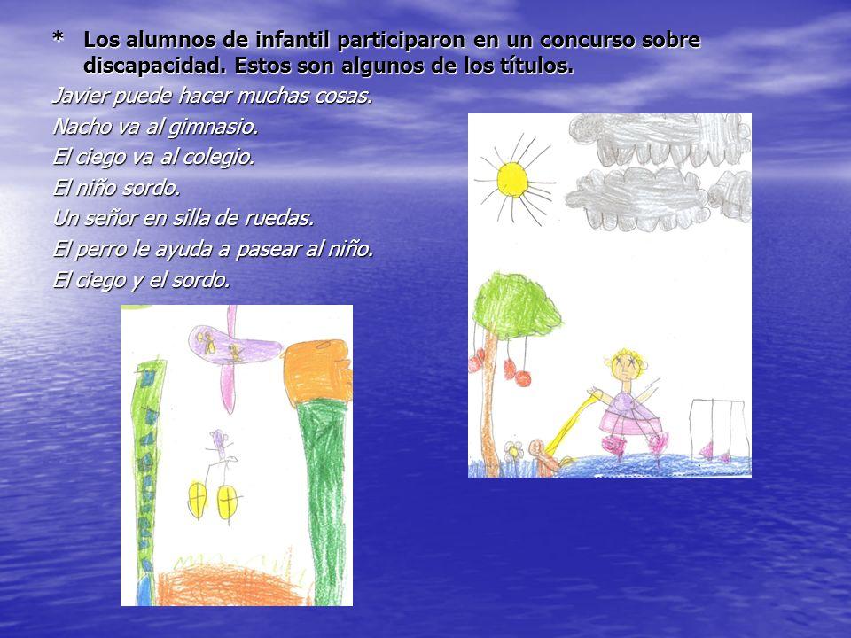 Los alumnos de infantil participaron en un concurso sobre discapacidad