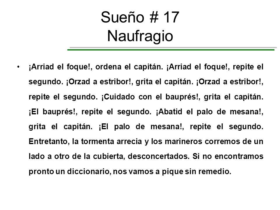 Sueño # 17 Naufragio