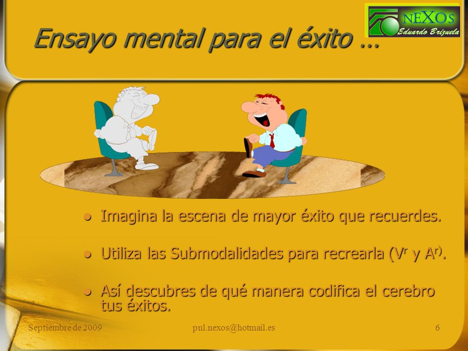 Ensayo mental para el éxito …