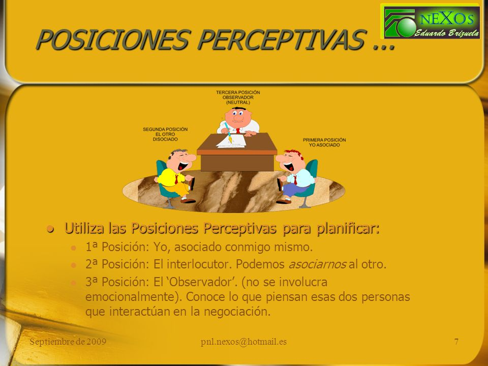 POSICIONES PERCEPTIVAS ...