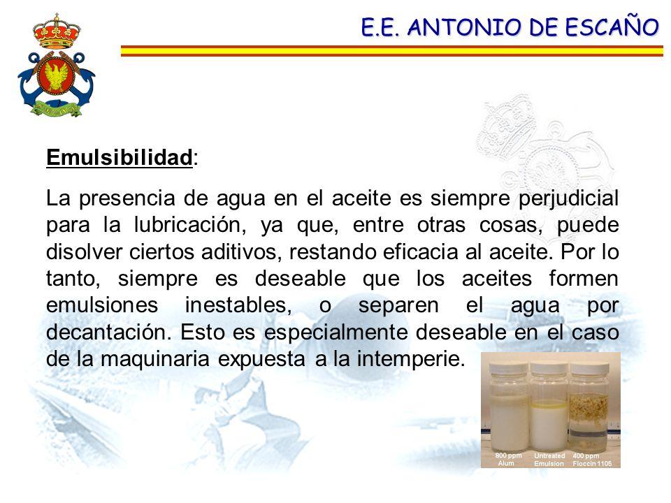 E.E. ANTONIO DE ESCAÑO Emulsibilidad: