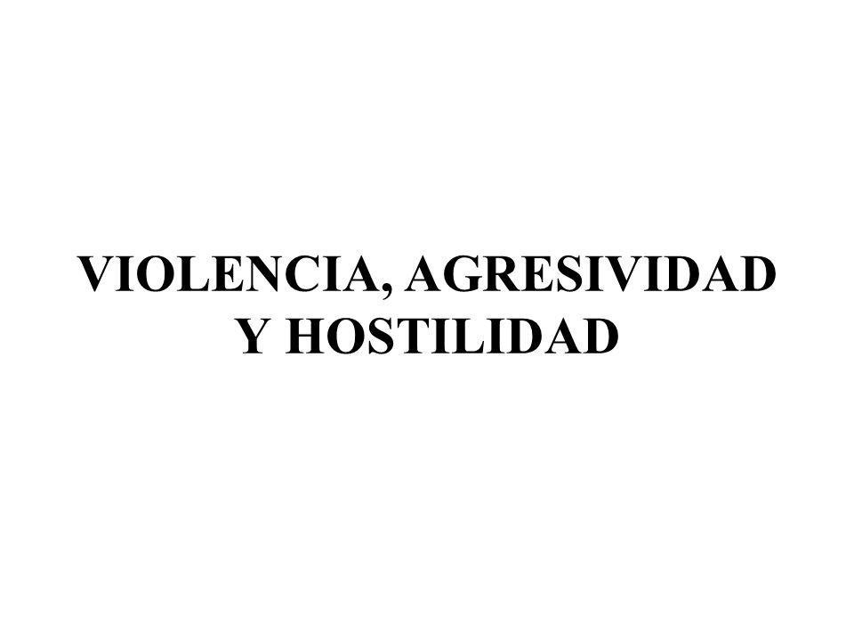 VIOLENCIA, AGRESIVIDAD Y HOSTILIDAD