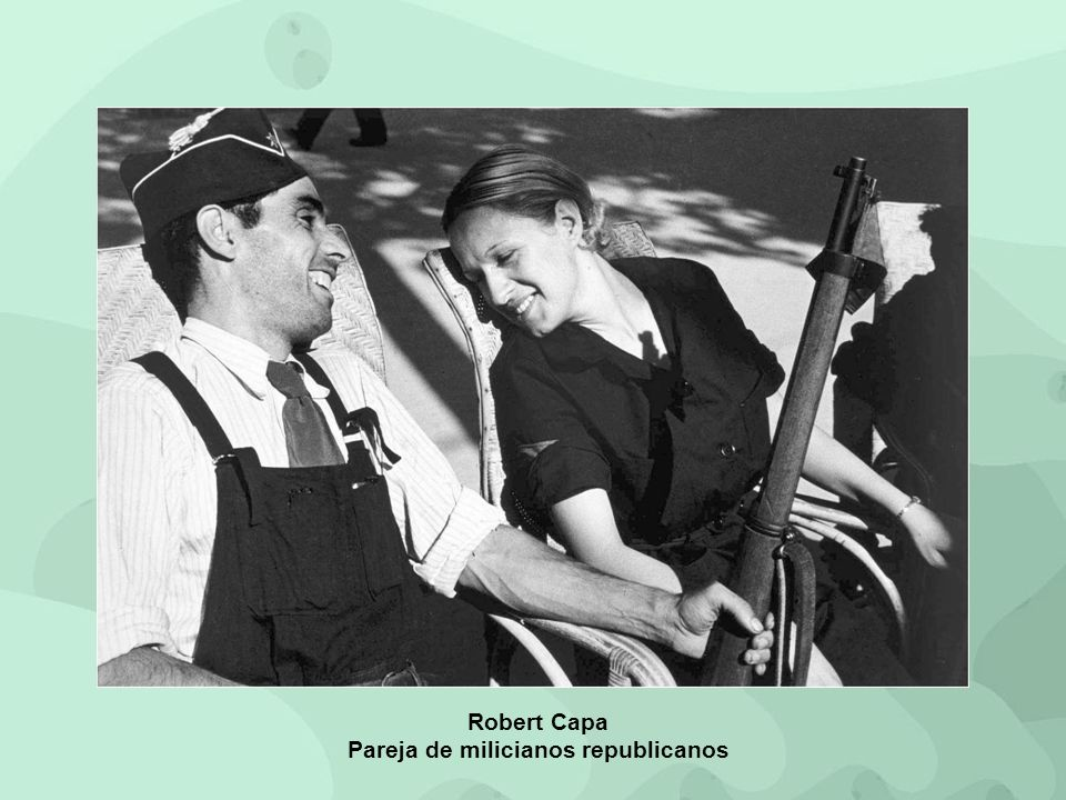 Pareja de milicianos republicanos