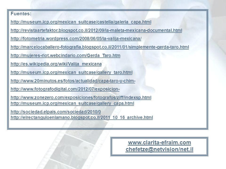www.clarita-efraim.com chefetze@netvision/net.il