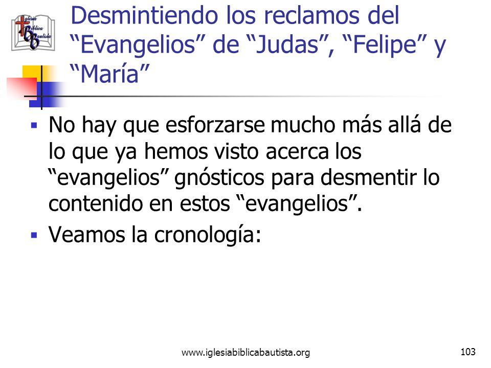 Desmintiendo los reclamos del Evangelios de Judas , Felipe y María