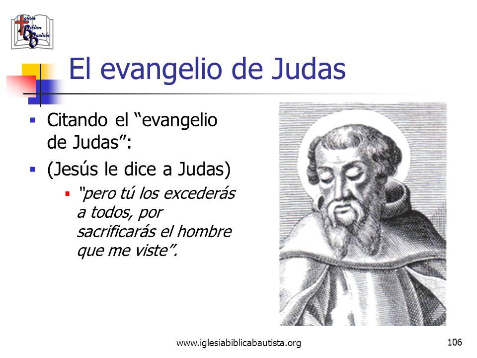 El evangelio de Judas Citando el evangelio de Judas :