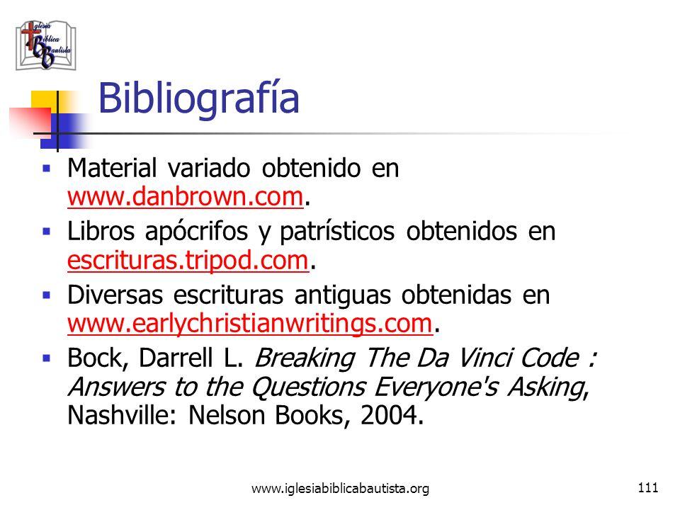 Bibliografía Material variado obtenido en www.danbrown.com.