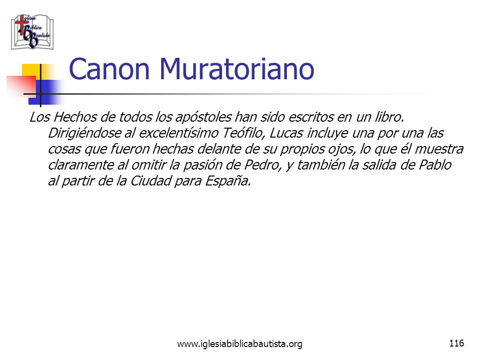 Canon Muratoriano