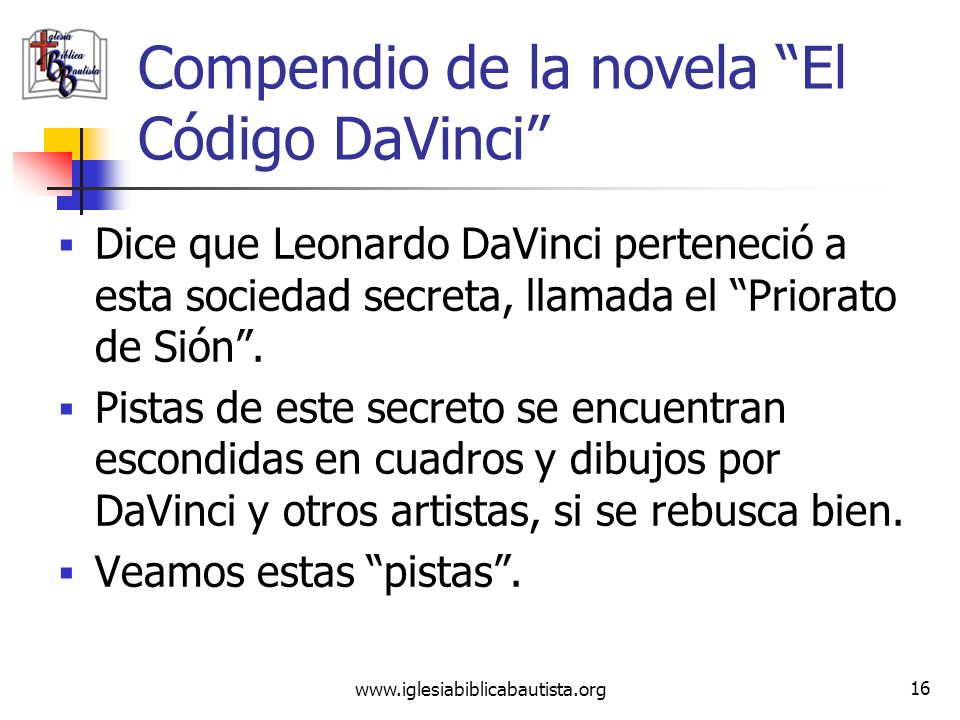 Compendio de la novela El Código DaVinci