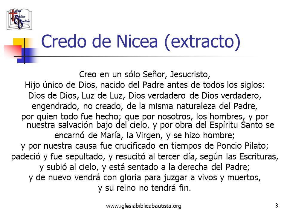 Credo de Nicea (extracto)