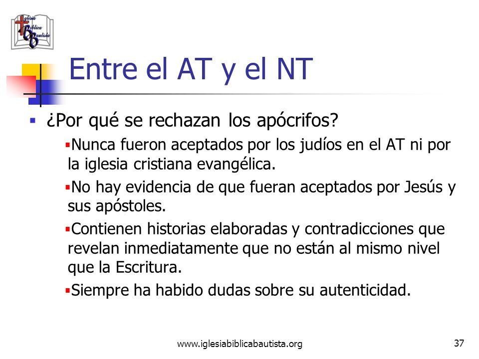 Entre el AT y el NT ¿Por qué se rechazan los apócrifos