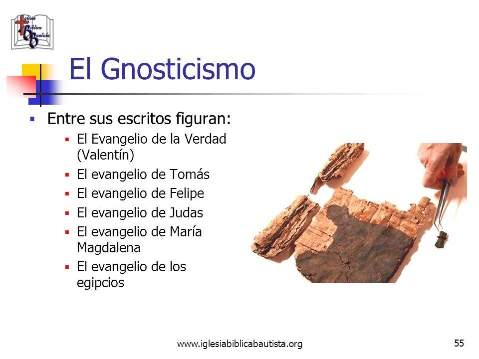 El Gnosticismo Entre sus escritos figuran: