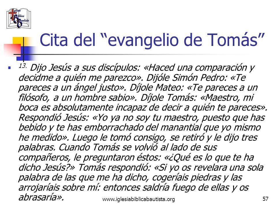 Cita del evangelio de Tomás