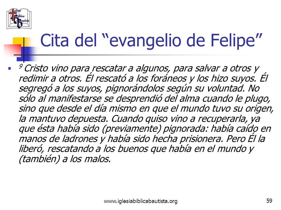Cita del evangelio de Felipe