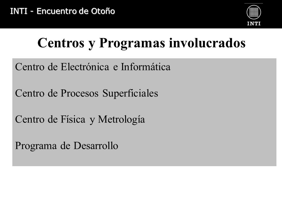 Centros y Programas involucrados