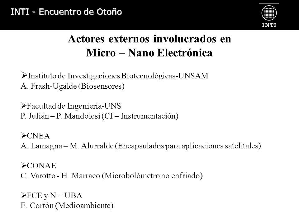 Actores externos involucrados en Micro – Nano Electrónica