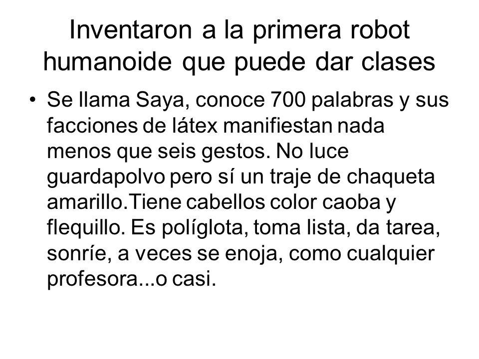 Inventaron a la primera robot humanoide que puede dar clases