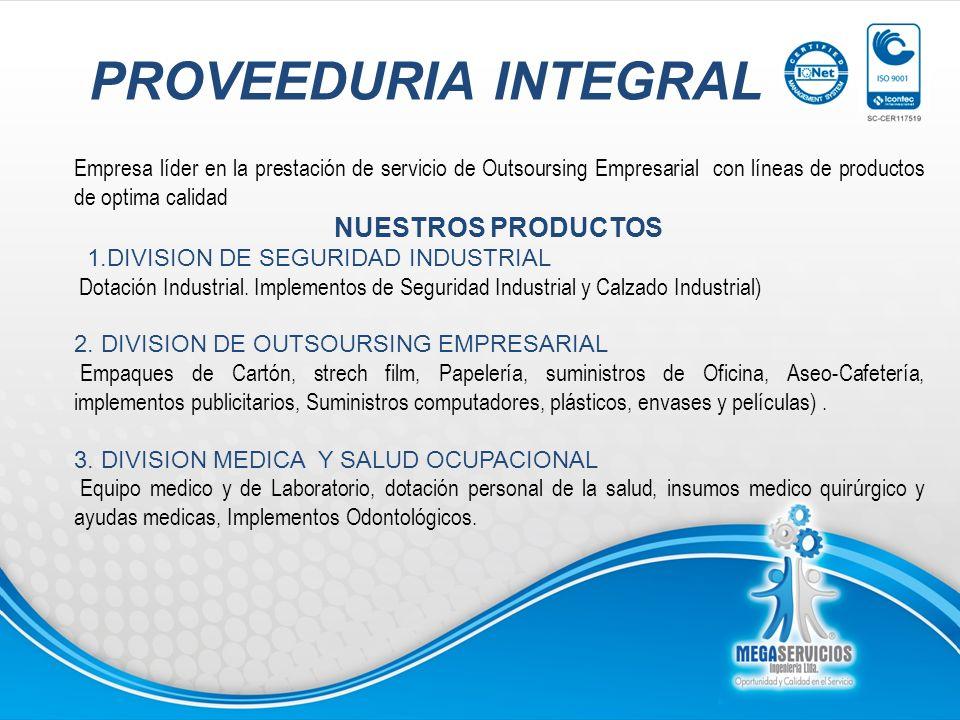PROVEEDURIA INTEGRAL NUESTROS PRODUCTOS