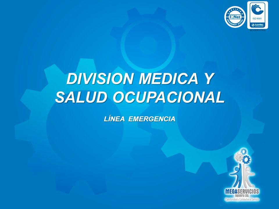 DIVISION MEDICA Y SALUD OCUPACIONAL