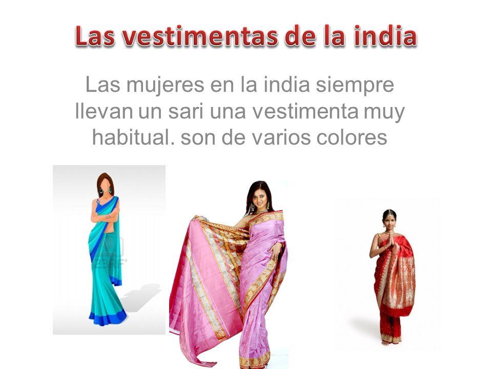 Las vestimentas de la india