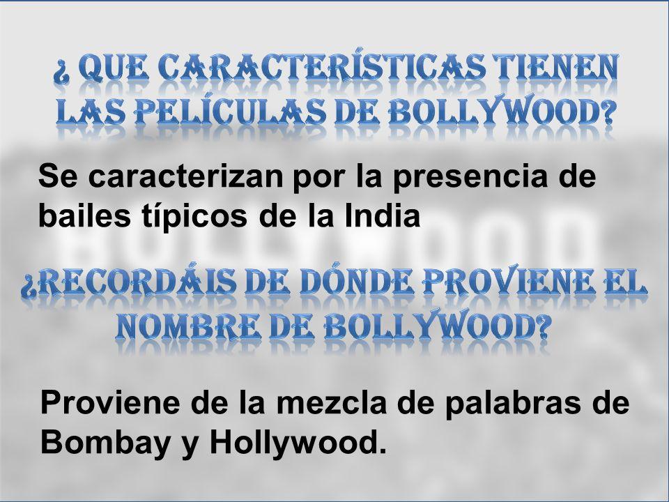 ¿ que características tienen las películas de bollywood