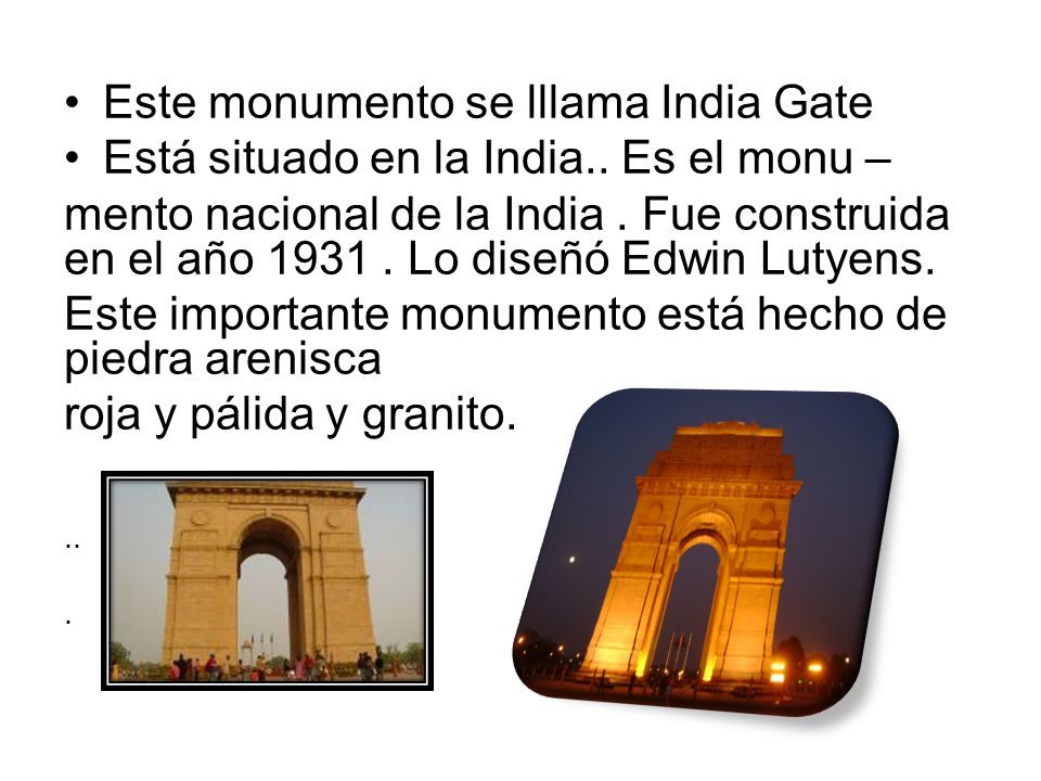 Este monumento se lllama India Gate