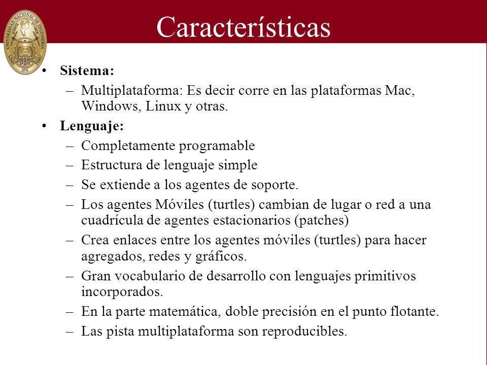 Características Sistema: