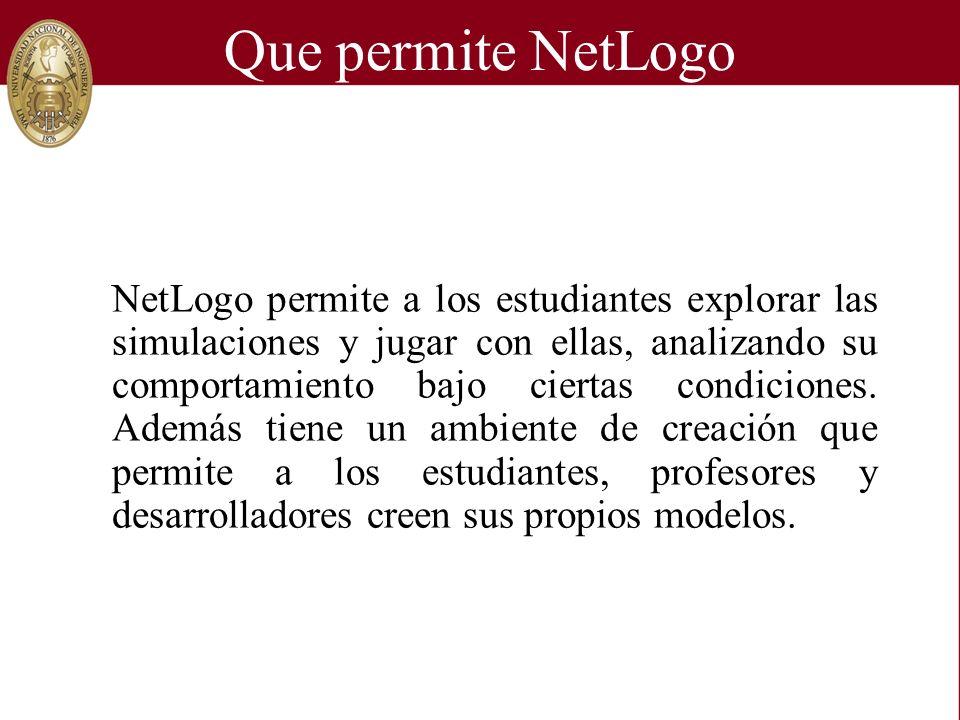 Que permite NetLogo