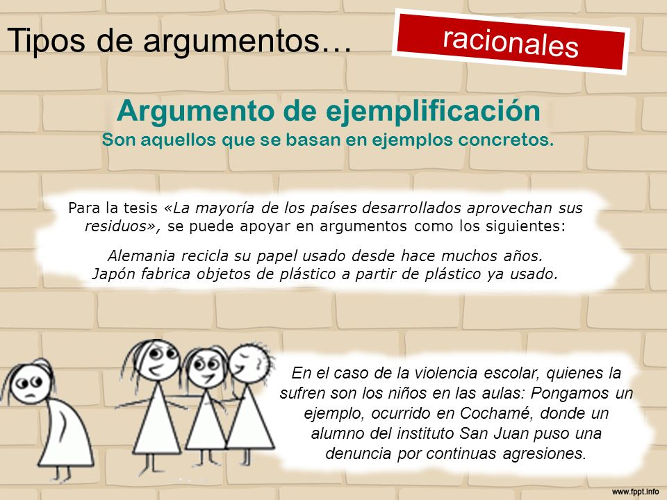 Tipos de argumentos… racionales