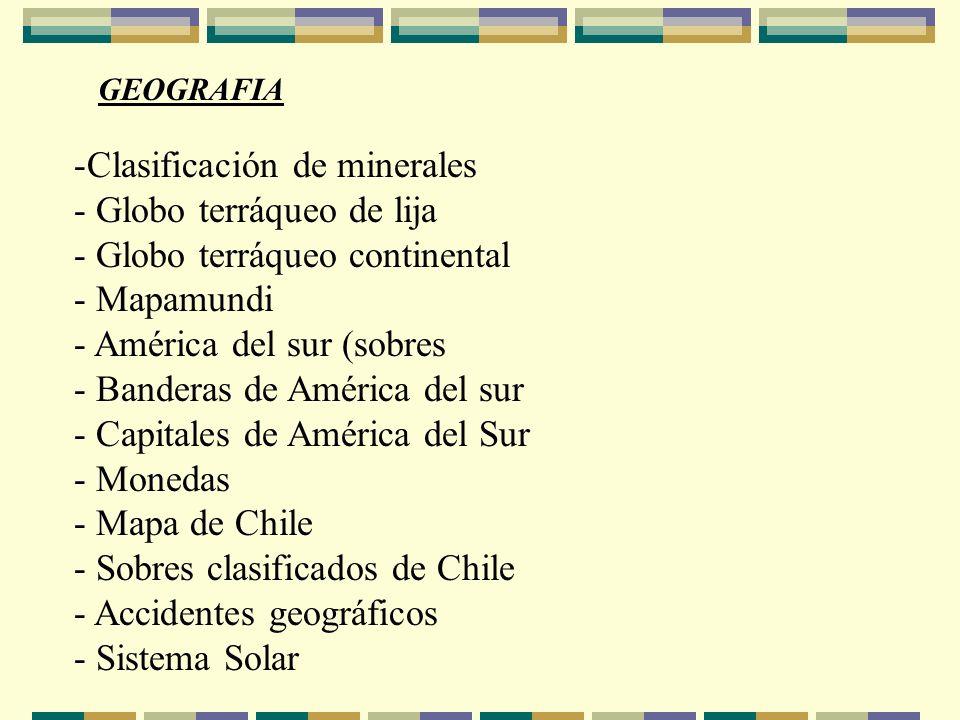 Clasificación de minerales Globo terráqueo de lija
