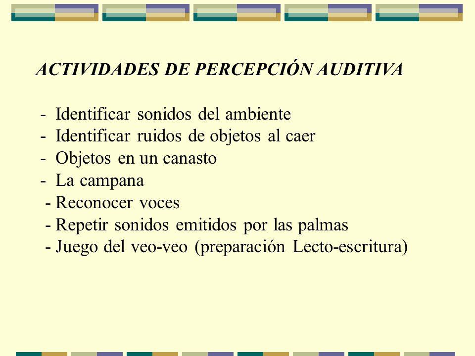 ACTIVIDADES DE PERCEPCIÓN AUDITIVA