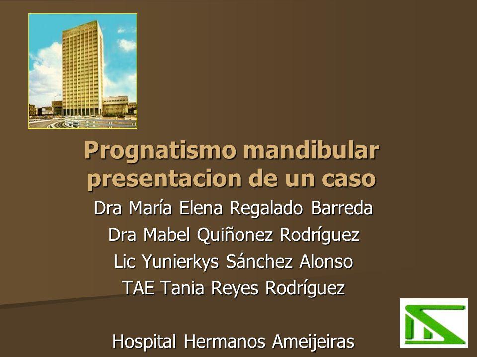 Prognatismo mandibular presentacion de un caso