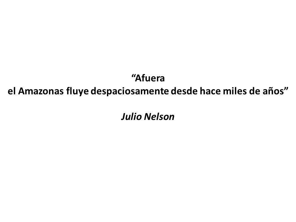 Afuera el Amazonas fluye despaciosamente desde hace miles de años Julio Nelson